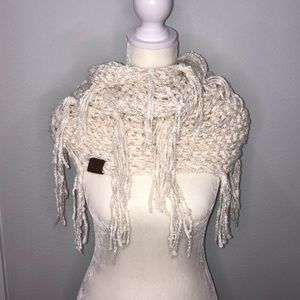 C.C. Chenille Knit Infinity Scarf with Tassels